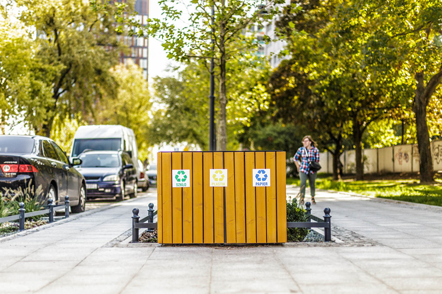 Kosz do segregacji odpadów lawki-parkowe.com