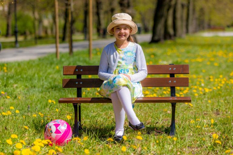 ławka parkowa dziecięca